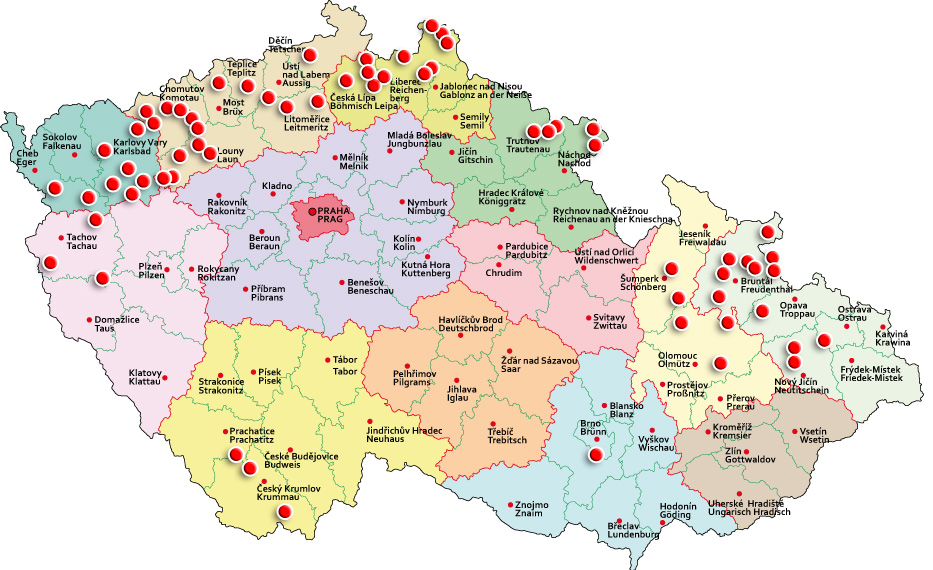Karte Tschechien.Bauernbefreier Hans Kudlich Und Seine Denkmäler Gedenkstätten Karte